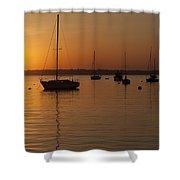 Sunset Newport Boats Shower Curtain