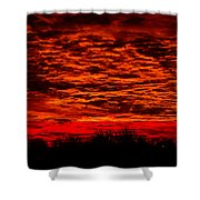 Sunset Of New Mexico Shower Curtain by Savannah Fonner