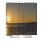 Sunset Off Of Cape May Shower Curtain