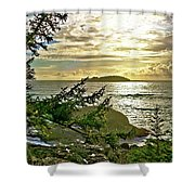 Sunset Off Vancouver Island Shower Curtain