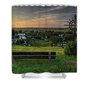 Sunset On A Beautiful Place Shower Curtain