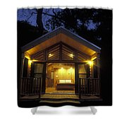 Sunset On A Cabin At El Capitan Canyon Shower Curtain