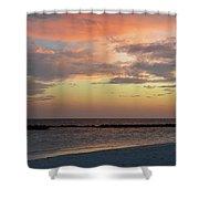 Sunset On An Idyllic Island In Maldives Shower Curtain