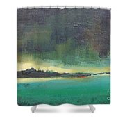 Sunset On Blue Danube Shower Curtain