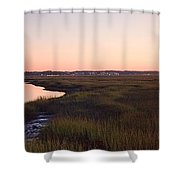 Sunset On Broad Creek Hilton Head South Carolina Shower Curtain