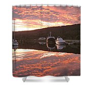 Sunset On Caledonian Canal Shower Curtain