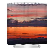 Sunset On Caney Fork Overlook Shower Curtain