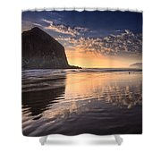 Sunset On Cannon Beach Shower Curtain