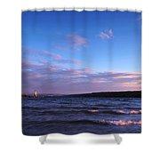 Sunset On Cayuga Lake Ithaca Shower Curtain