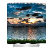 Sunset On Cedar Key Shower Curtain