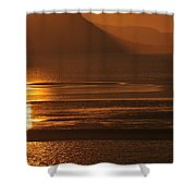 Sunset On Coast Of North Wales Shower Curtain