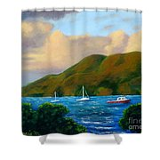 Sunset On Cruz Bay Shower Curtain