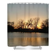 Sunset On Elk Shower Curtain