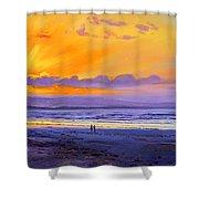 Sunset On Enniscrone Beach County Sligo Shower Curtain