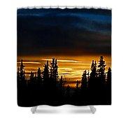 Sunset On Fairbanks - Alaska Shower Curtain