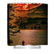 Sunset On Fire Shower Curtain