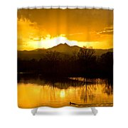 Sunset On Golden Ponds Shower Curtain