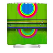 Sunset On Green Shower Curtain