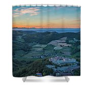 Sunset On Hills Shower Curtain