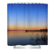 Sunset On Lake Constance II Shower Curtain