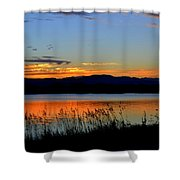 Sunset On Lake Dillon Shower Curtain