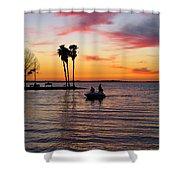Sunset On Lake Dora At Mount Dora Florida Shower Curtain