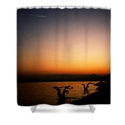 Sunset On Lake Geneva Shower Curtain