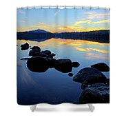 Sunset On Lake Harris 2 Shower Curtain