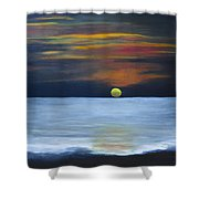 Sunset On Lake Michigan Shower Curtain