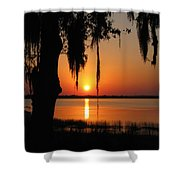 Sunset On Lake Minneola Shower Curtain
