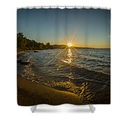 Sunset On Lake Superior Shower Curtain