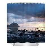 Sunset On Le Morne Shower Curtain