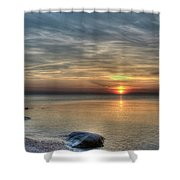Sunset On Long Island Sound Shower Curtain