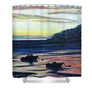 Sunset On Maine Coast Shower Curtain