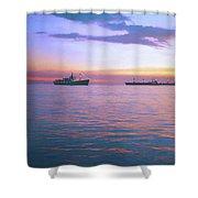 Sunset On Manila Bay Shower Curtain