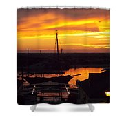 Sunset On Morro Bay Shower Curtain