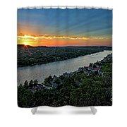 Sunset On Mount Bonnell Shower Curtain