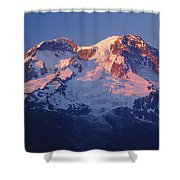 1m4876-sunset On Mt. Rainier  Shower Curtain