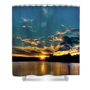 Sunset On Nicks Lake Shower Curtain