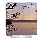 Sunset On Orcas Shower Curtain