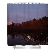 Sunset On Percy Peaks Shower Curtain