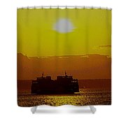 Sunset On Puget Sound Shower Curtain