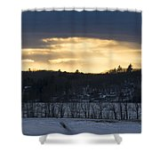 Sunset On Sabattus Lake Shower Curtain