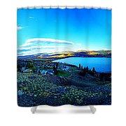 Sunset On Skaha Lake Shower Curtain