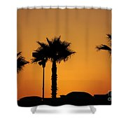 Sunset On Socal Beach Shower Curtain