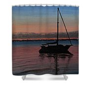 Sunset On St. Andrew Bay Shower Curtain