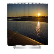 Sunset On St. Simons Island Shower Curtain