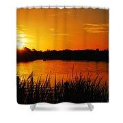 Sunset On The Alafia Shower Curtain