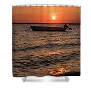 Sunset On The Bay Lavallette New Jersey  Shower Curtain