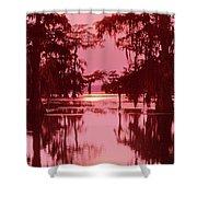 Sunset On The Bayou Atchafalaya Basin Louisiana Shower Curtain